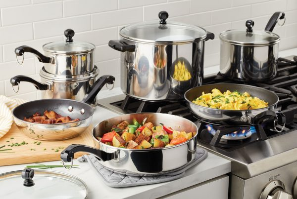farberware cookware set with breakfast cooking