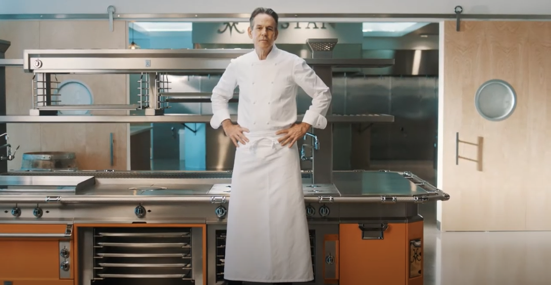 thomas keller in a hestan kitchen